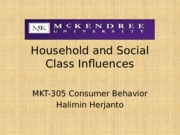 Household and social class influences