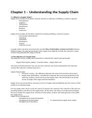 Supply Chain Management - Chapter 1.docx