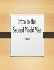 Lecture 1- The War to End All Wars