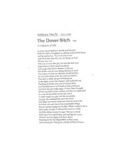 The Dover- Anthony Hecht Analysis
