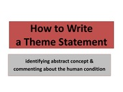 How to Write a Theme Statement
