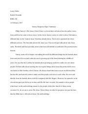 Yancey Response Paper
