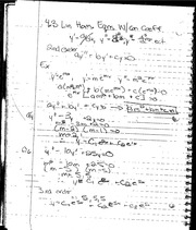 4.3 Linear Homogeneous Equation Notes