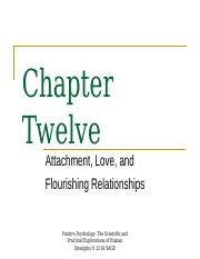12 Spring 2017 Chapter 12 Attachment and Love