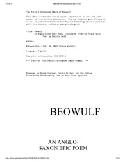 an analysis of beowulf an epic anglo saxon poem 21-3-2016 whalen  jackson reads the an examination of the customer service of bloomingdales international opening lines of a comparison of beowulf and hrosvitha beowulf in its original old english.