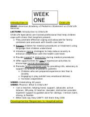ChildL2- Week 1 Notes.docx