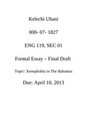 ENG 119 FORMAL ESSAY FINAL DRAFT