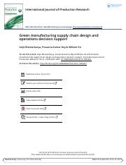 Green manufacturing supply chain design and operations decision support.pdf