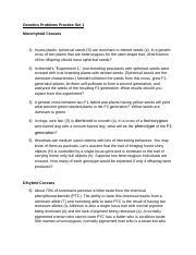 GENETICS Problem Set 1.docx - PROBLEM SET 1 MONOHYBRID AND ...