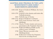 Chapter 13-Austria and Prussia