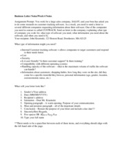 Week 4-Business Letter Notes Section 2