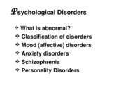 Ch. 14 Disorders