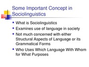 CONCEPTS IN SOCIOLINGUISTICS.Outline