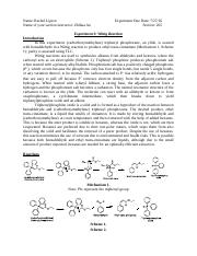 Experiment 3- Wittig Reaction