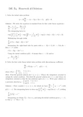 Homework C Solutions on Ordinary Differential Equations