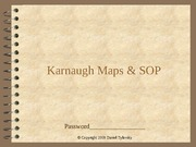 Karnaugh Maps & SOP