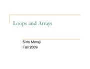 (6) More Loops & Arrays (Sina)