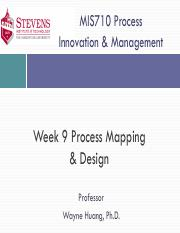 MIS710-Week09-Process Mapping and Design - SIT-1