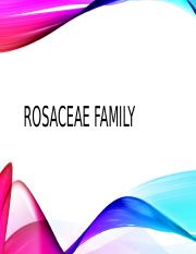 ROSACEAE FAMILIES Taxonomy