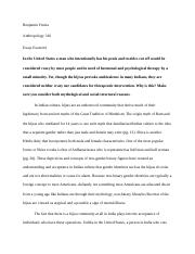 Essay Exam 4- Neither Man nor Woman