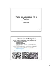 Section 9-Phase Diagrams and Fe-C System -  2013