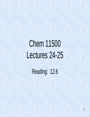 CHM115M Lectures 24 and 25 - student slides