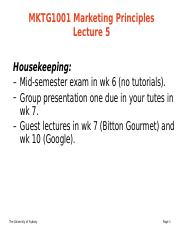 MKTG1001 MP - lecture 5a