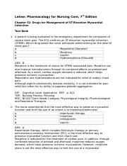 Drugs for Management of ST-Elevation Myocardial Infarction