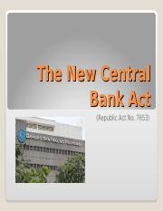 The New Central Bank Act.ppt