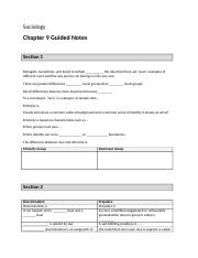 Chapter 9 Guided Notes