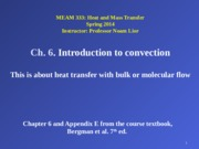 Ch. 6. Introduction to convection