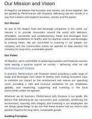PepsiCo India - Our Mission and Vision.pdf