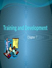 Training and Development (1)