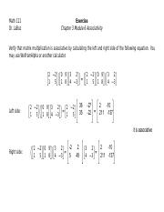 Exercise Chapter 3 Module 6 Associativity