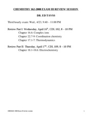 #Chem 162-2008 exam III review draft 2