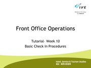HOC3001.Week 10.T.Basic Check In Procedures