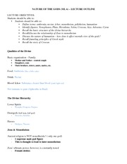 Nature of the Gods Lecture Outline 2 - Copy