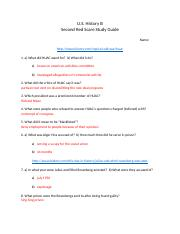 Second Red Scare Study Guide