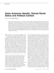 Junn and Masuoka. Asian American Identity