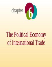 Chapter - 6 - The Political Economy of International Trade_updated_17.10.2014