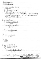Midterm Review with Solutions