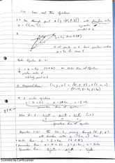 Lines and Their Equations Lecture Notes