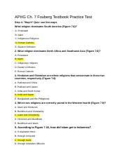 APHG Ch. 7 Fouberg Textbook Practice Test.docx
