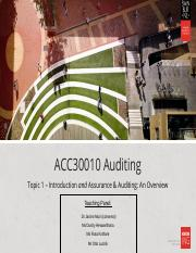 HOC-L1 - Assurance & Auditing - An Overview(1).ppt