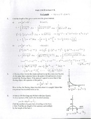 Solutions for WS #12, Arc Length
