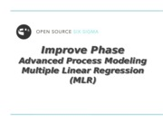 3_Improve - Advanced Process Modeling MLR