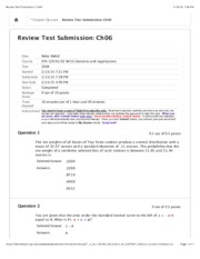 Review Test Submission: Ch06 part 2