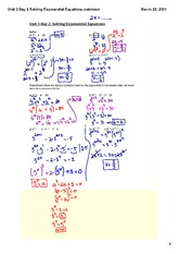 Solving Exponential Equations (1)