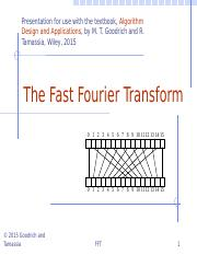 Chapter 10 Fast Fourier Transform.pptx
