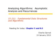 03 Asymptotics and Recurrences